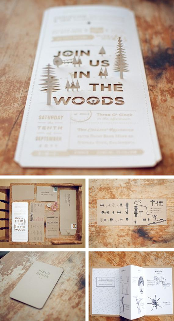 Rustic wedding invitations in Inspiration and ideas for wedding prints