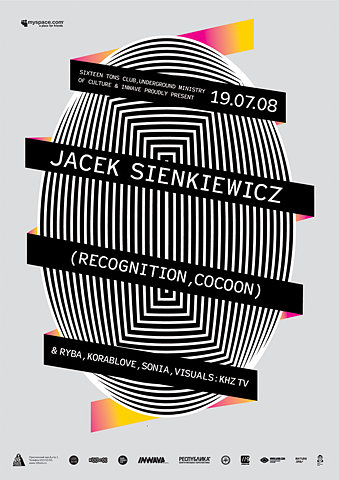Flickr Photo Download: Jacek Sienkiewicz poster (Recognition,Cocoon) for 16-tonn club