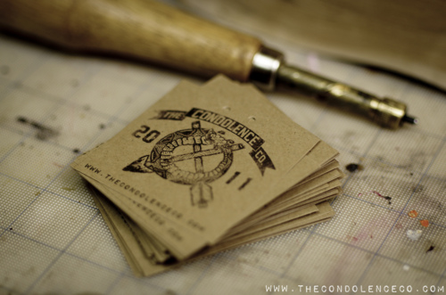 Making new tags in preparation for the Fall... | The Condolence Co.