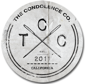 Making new tags in preparation for the Fall...   The Condolence Co.