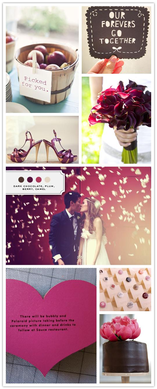 :::: The Inspired Bride™ :::: › Color Palette: Dark Chocolate, Plum, Berry, Camel
