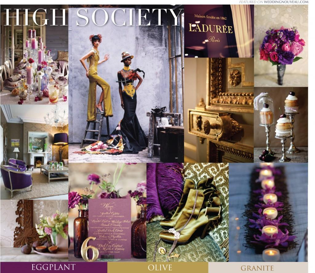 {#148} Purple Eggplant Olive Glam Inspiration | Dream Palettes | Blog | | WEDDING NOUVEAU