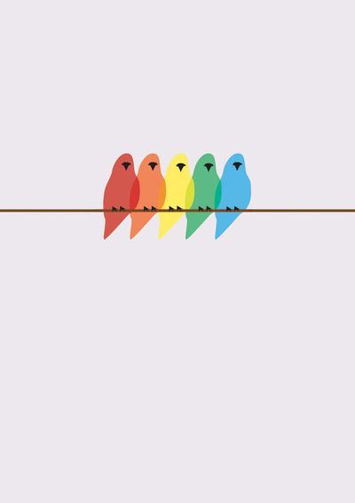 Birds Art Print by Emma J Hardy | Society6