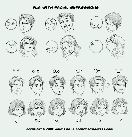 Fun with Facial Expressions by *what-i-do-is-secret