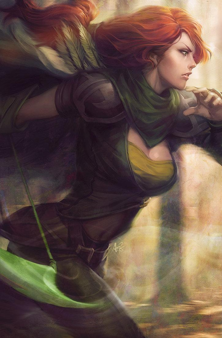 Windrunner - DotA2 by `Artgerm