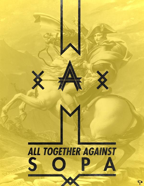 V - Anti-SOPA Campaign