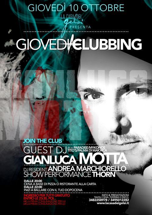 GIOVEDI' CLUBBING | special guest GIANLUCA MOTTA