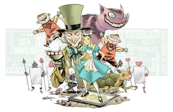 Art Work of Alice in Wonderland | nenuno creative