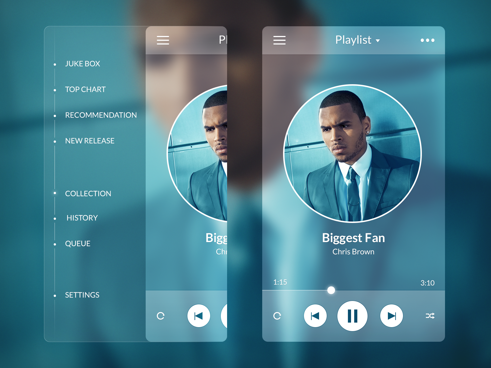 Music Player - Side Menu
