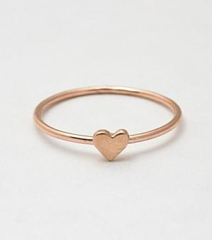 catbird :: shop by category :: Jewelry :: Rings :: Heart Ring, Rose Gold