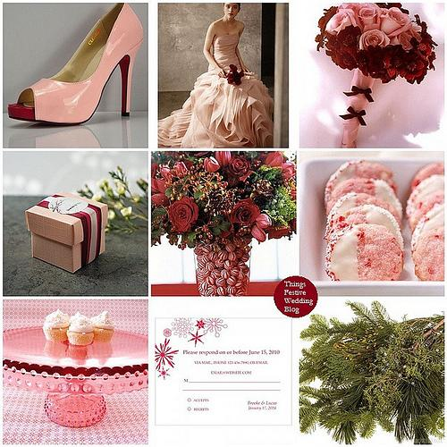 Things Festive Wedding Blog: Pink and Red Winter Wedding Theme