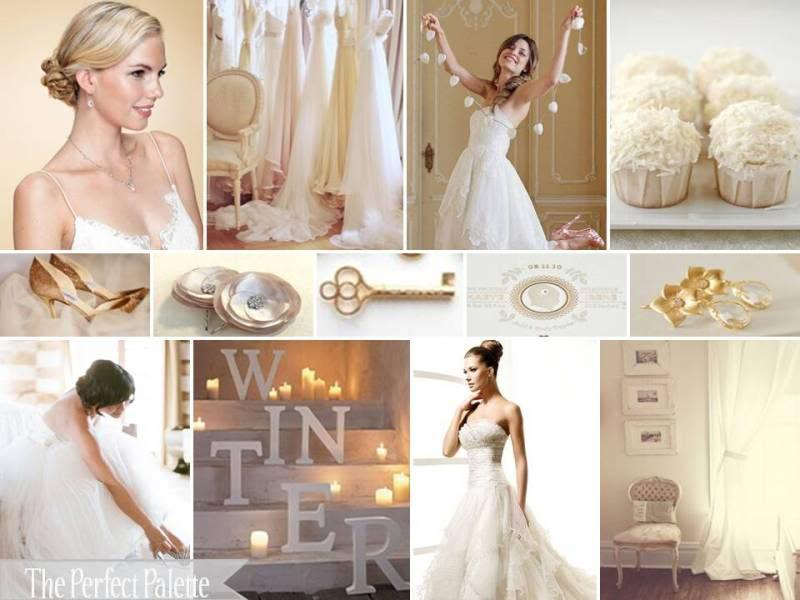 The Perfect Palette: {Gold Glitz & Glimmer}: A Palette of Gold, Ivory & White