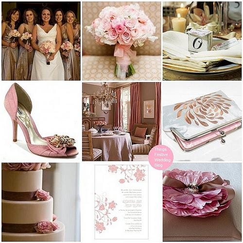 Things Festive Wedding Blog: Pink and Taupe Wedding Theme with Vintage Elements