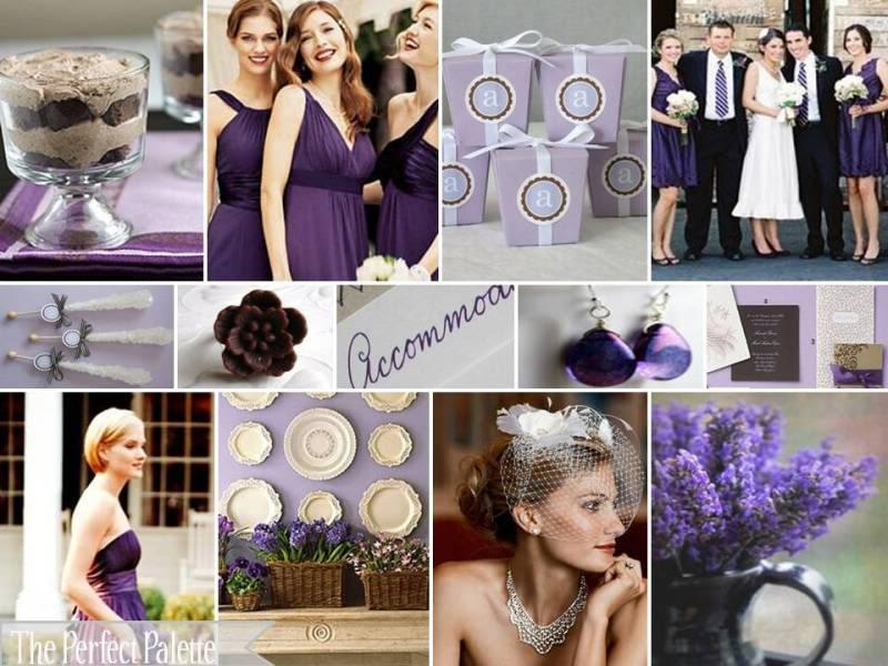 The Perfect Palette: {Plum Perfect!} Shades of Purple, Brown & White