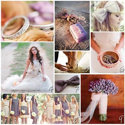 Notable Inspiration: Wedding Inspiration for the Non-Traditional Bride: Color Inspiration: Nude and Lavender