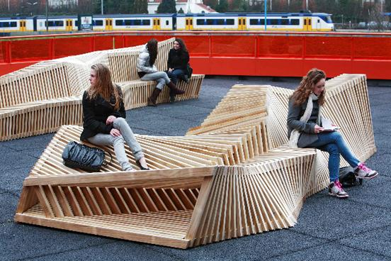 'Reef Benches' by Remy & Veenhuizen @ Dailytonic