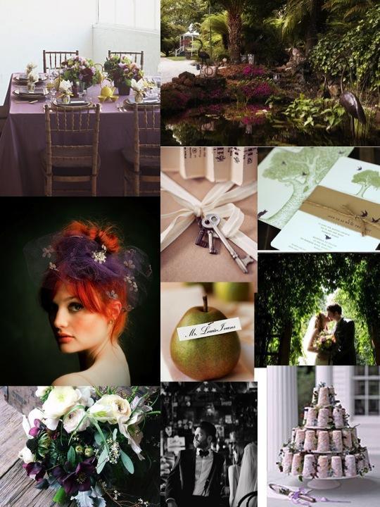 Aubergine Secret Garden Gala | Polka Dot Bride