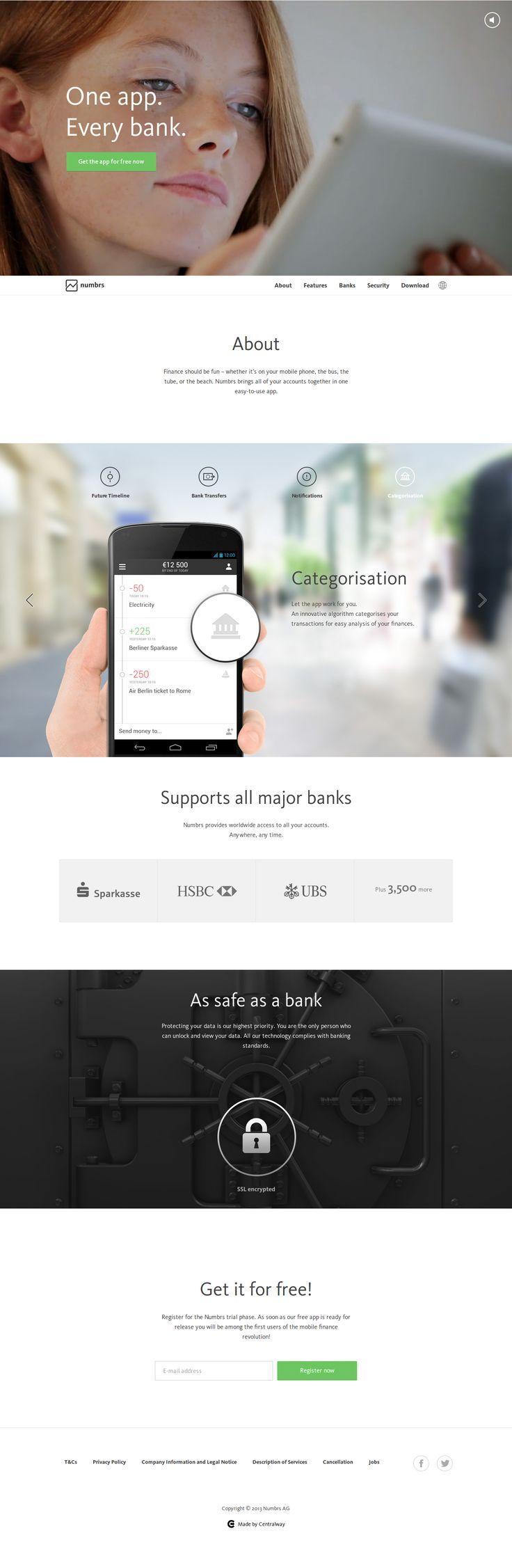 responsive website with video header #webdesign ... | UX/UI/design