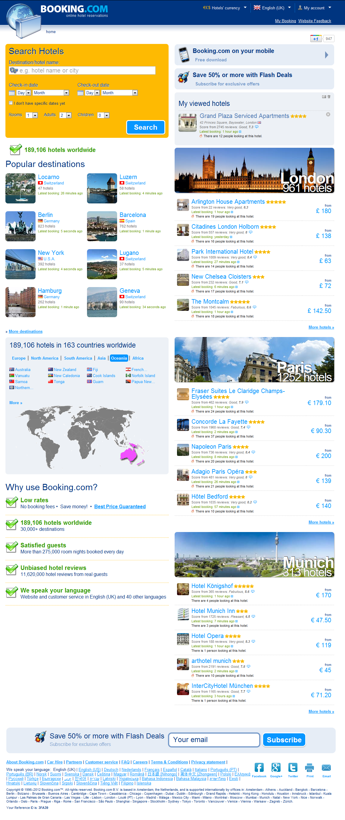Booking.com: 189,106 hotels worldwide. Book your hotel now!