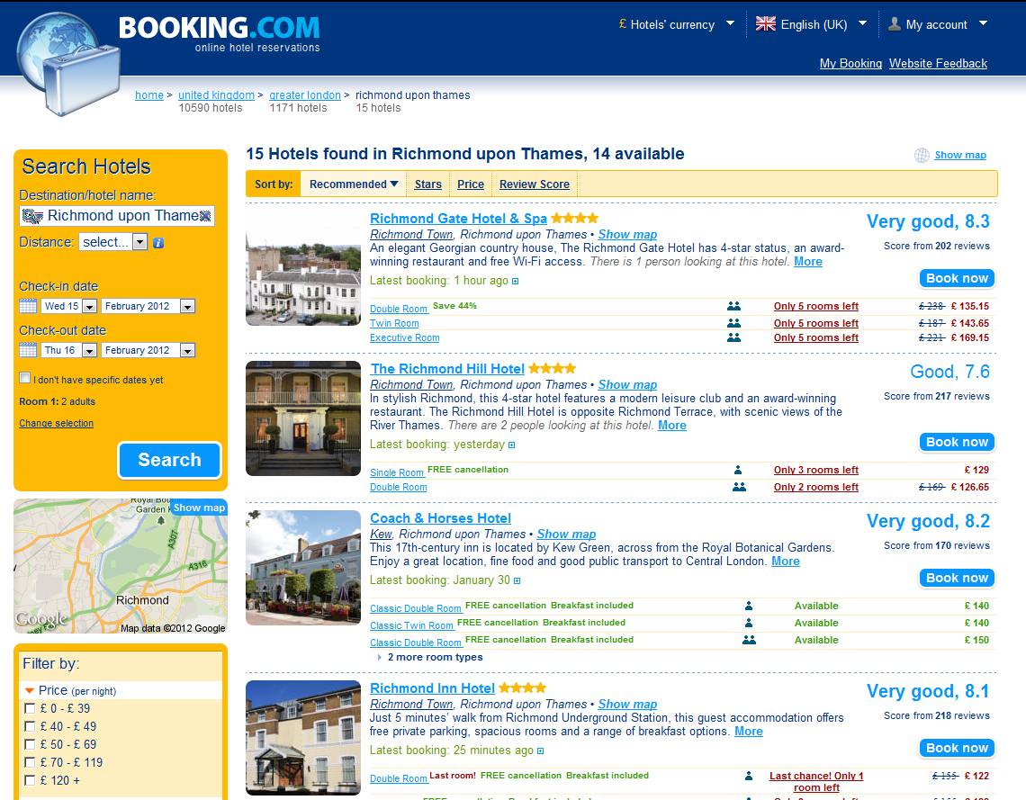 Booking.com: Hotels in Richmond upon Thames. Book your hotel now!
