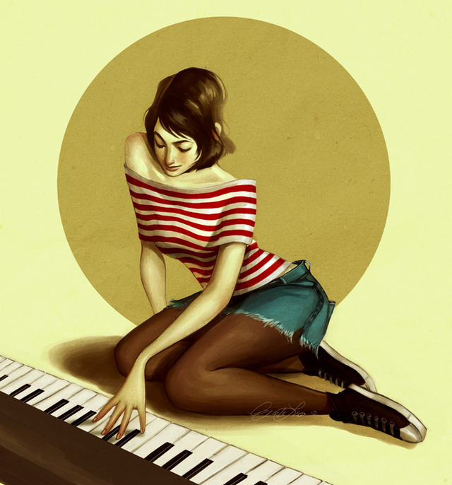 IndiesArt.com - Ericka Lugo - Illustrations - piano color
