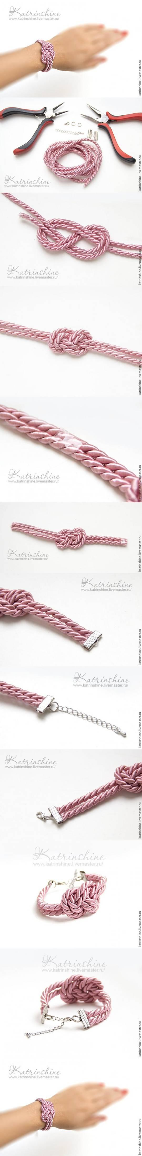 DIY Bracelet with a Knot of Silk Cord DIY Projects | UsefulDIY.com