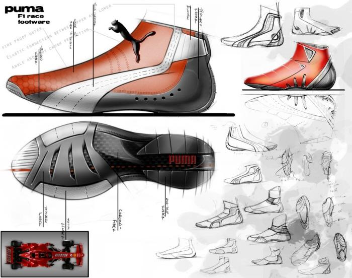 Puma F1 racing shoe by Patrick Lukasak at Coroflot