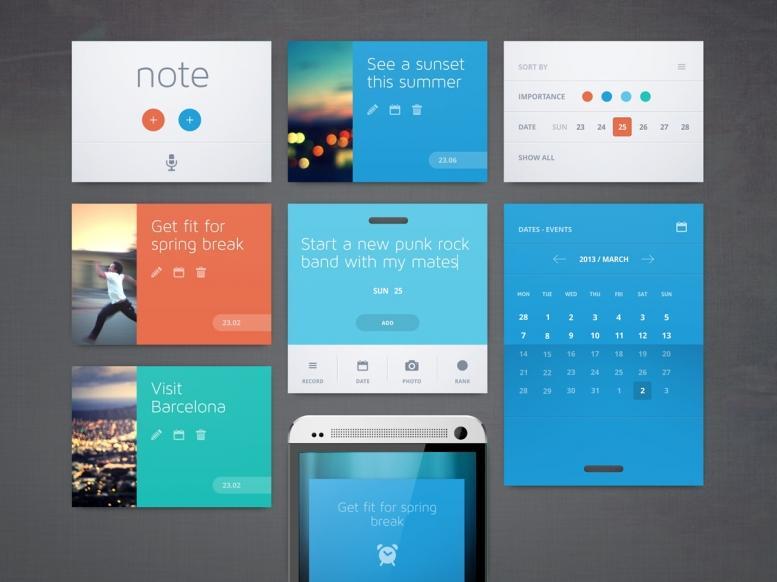 11+ Examples of incredible flat UI design | Hook & Stem