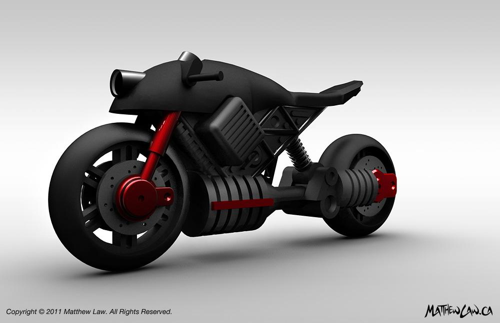Electric Motorcycle Design by Matthew Law | Ps-Garage
