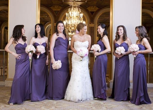 Bridesmaids: Shades of Purple | InsideWeddings.com