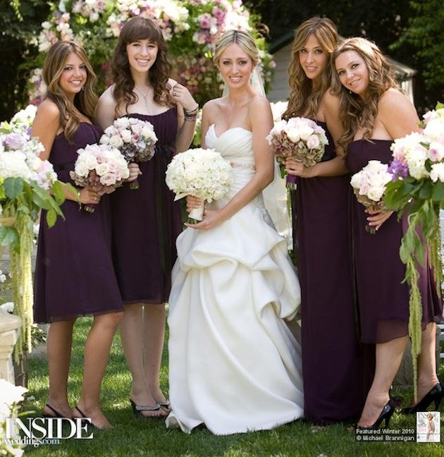 Bridesmaids: Shades of Purple | InsideWeddings.com
