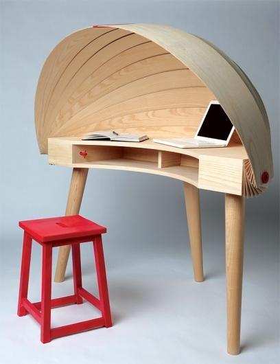 Duplex Workspace Retractable Hooded Desk by Sophie Kirkpatrick » Yanko — Designspiration