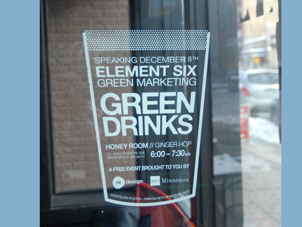 Paperless Poster // Green Drinks - Entry Details - AIGA Design Show 2011