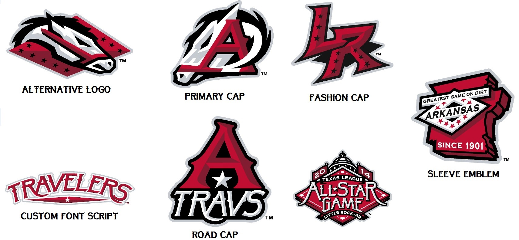 Brand New: New Logo for Arkansas Travelers by Brandiose