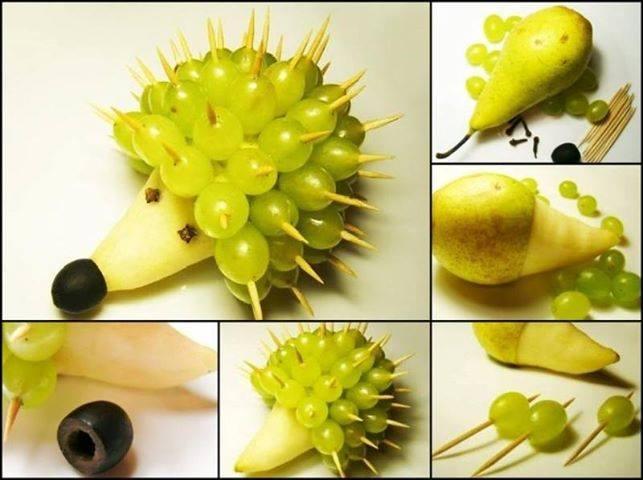 Ежик из фруктов своими руками