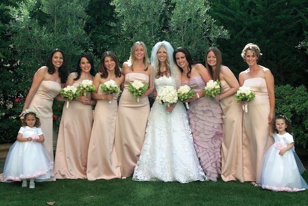 Bridal Party: Mismatched Maids | InsideWeddings.com