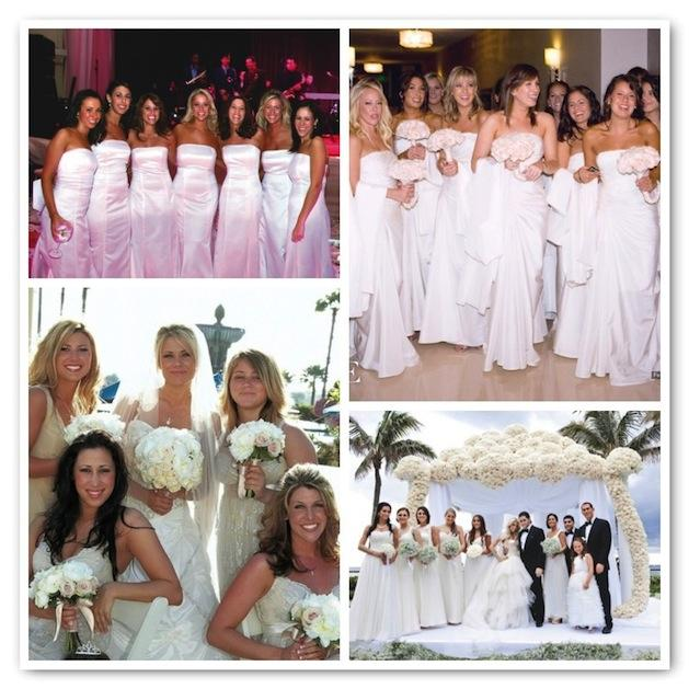 Bridesmaids: Visions In White | InsideWeddings.com