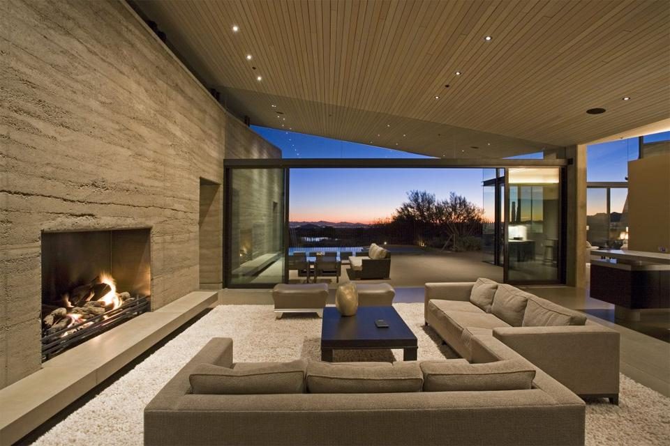 earth desert living room photo | one big photo