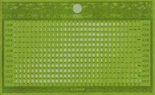 Letterpress 2011 Lunar Calendar by Alec Thibodeau | Colossal