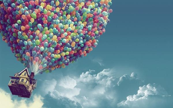clouds,Pixar clouds pixar houses up movie balloons skyscapes 1920x1200 wallpaper – Houses Wallpapers – Free Desktop Wallpapers