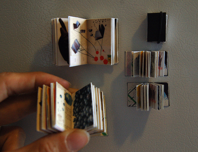 itty bitty books on the fridge | Flickr - Photo Sharing!