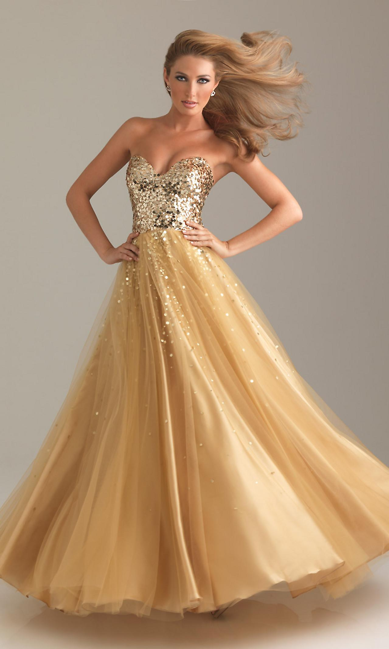Sequin Ball Gowns, Night Moves Dresses for Prom - Simply Dresses