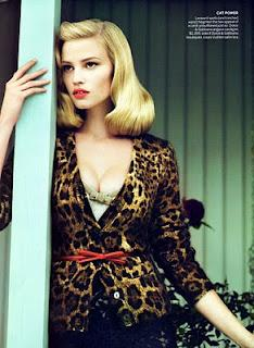 Da Da Dee Dee Dum: Lara Stone in Vogue-Supermodels and Celebrity Photos
