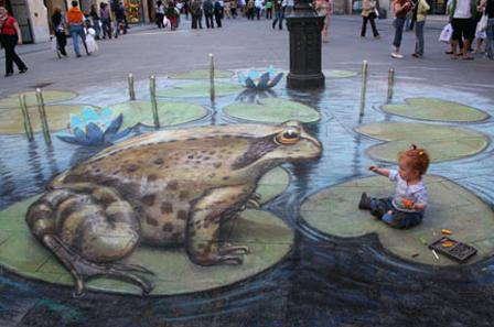 Amazing 3D Street Art – Chalk isn't only for children | College Poison