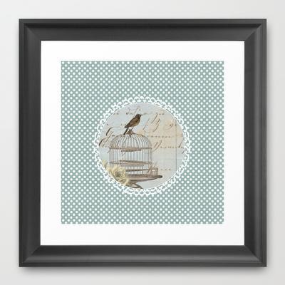 Free Bird Framed Art Print by Ally Coxon | Society6