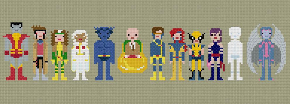 Cross-stitched Superheroes (and Villains) by WeeLittleStitches - What an ART