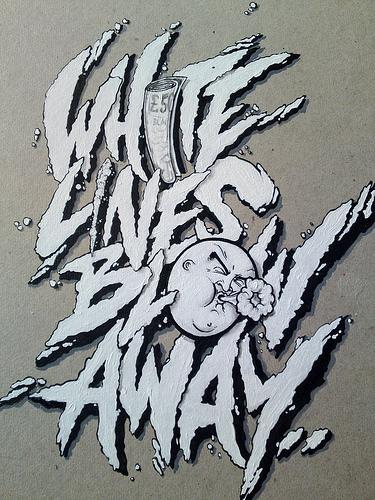 Typeverything.com - WHITE LINES by Blam2002 - Typeverything