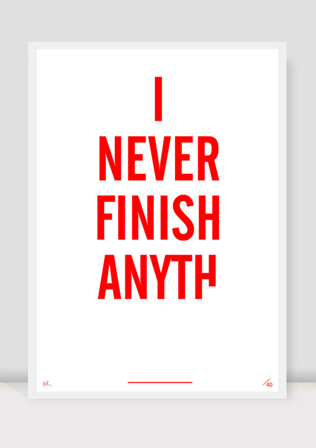 Brad Rose: »I Never Finish Anyth« Print | urbanshit.de