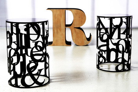 Typography Coffee Table by Justin Lamont