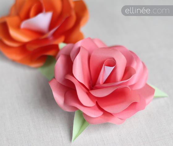 How to Make a Paper Rose | Ellinée